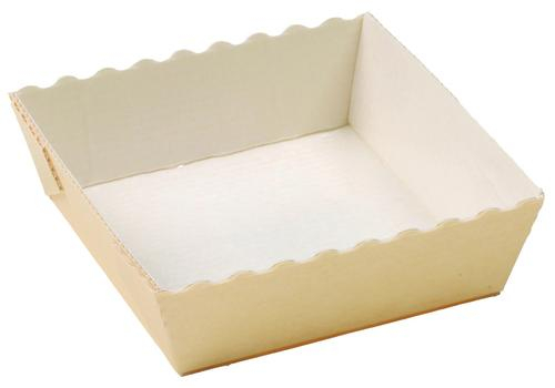 Molde de Cartón con forma cuadrada para hornear.
