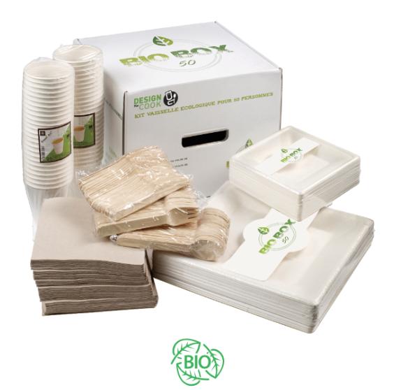 Contenido de la Caja de la Vajilla Biodegradable